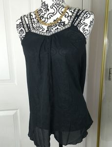 Women's Top size Small black with pearls straps